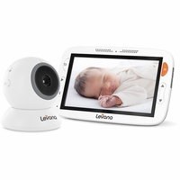 "Levana® Alexa™ 5"" LCD Video Baby Monitor with Temperature Monitoring, Feeding/Nap Timer, Two Way Intercom, Rapid Recharge Technology and Power Save Mode<!--32199-->"
