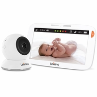 "Levana® Amara™ 7"" Touchscreen High Definition Video Baby Monitor with 12 Hour Battery Life, Rapid Recharging, Feeding/Nap Timer, Temperature Alerts and Split or Quad Screen View<!--32202-->"