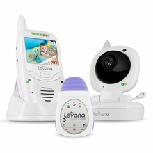 LEVANA Jena Digital Baby Video Monitor with LEVANA Powered by Snuza Oma+ Portable Baby Movement Monitor System (32124)