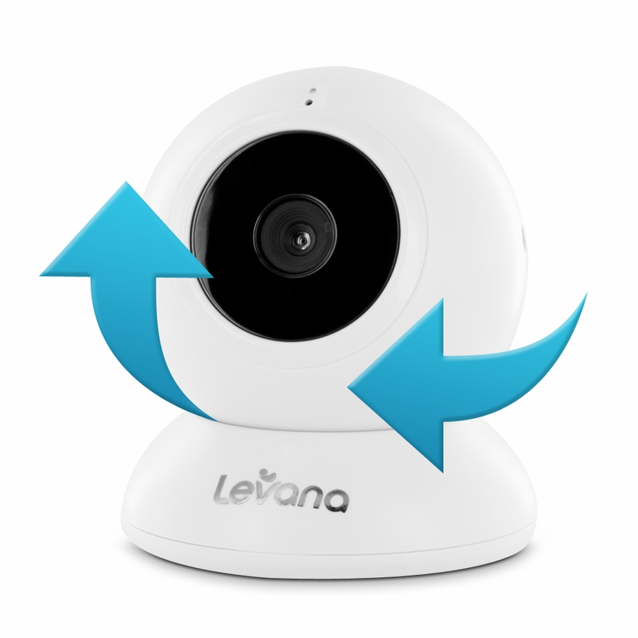 levana lila digital baby video monitor with night vision and talk to baby int. Black Bedroom Furniture Sets. Home Design Ideas