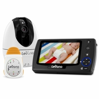 Levana Ovia Digital Baby Video Monitor with Levana Powered by Snuza Oma Portable Baby Movement Monitor System-32050<!--32050-->