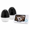 "Levana Stella 4.3"" PTZ Digital Baby Video Monitor with Talk to Baby Intercom - 2 Camera Bundle (32022)"
