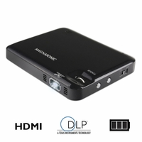 "Magnasonic LED Pocket Pico Video Projector, HDMI, Rechargeable Battery, Built-in Speaker, DLP, 60"" Hi-Resolution Display for Streaming Movies, Presentations, Smartphones, Tablets, Laptops (PP60)<!--PP60-->"