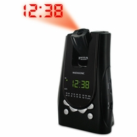 Magnasonic MAG-MM171K AM/FM Projection Alarm Clock Radio with Battery Backup & Dual Time Display<!--MAG-MM171K-->