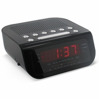 Magnasonic MAG-MM172K Ultra Compact AM/FM Clock Radio with Dual Alarm, Auto Time Set/Restore & Battery Backup<!--MAG-MM172K-->