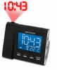 Magnasonic MAG-MM176K AM/FM Projection Clock Radio with Dual Alarm, Auto Time Set/Restore, Temperature Display, and Battery Backup