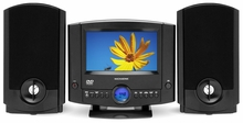 "Magnasonic MAG-MMD1040 DVD Player Stereo Speaker Micro System with 7"" LCD Screen, AM/FM Digital Radio & MPEG4/MP3/WMA Playback"