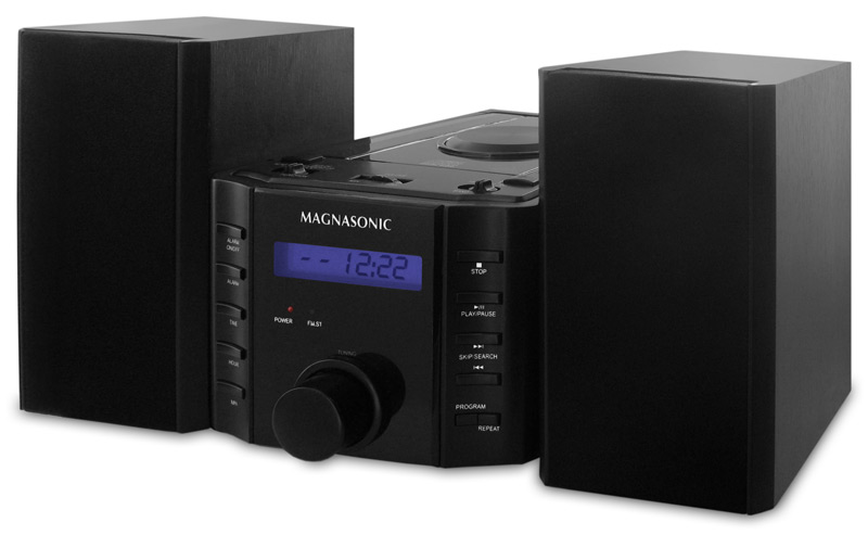 magnasonic mag ms857 cd player stereo speaker micro system. Black Bedroom Furniture Sets. Home Design Ideas