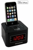 Magnasonic MiC1000K Digital FM Alarm Clock Radio Speaker Dock for iPod/iPhone with Dual Alarm & Auto Time Sync