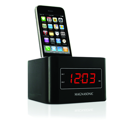 digital fm alarm clock radio speaker ipod iphone dock dual alarm auto auto. Black Bedroom Furniture Sets. Home Design Ideas