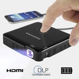 Magnasonic Mini Portable Pico Video Projector, HDMI, Rechargeable Battery, Built-In Speakers, DLP, Vibrant 100 Lumen Brightness for Mobile Movies, Presentations, Gaming, Smartphones, Tablets, Laptops (PP71)<!--PP71-->