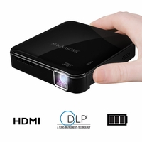 Magnasonic Mini Portable Pico Video Projector with HDMI, Battery, DLP, Vibrant 50 Lumen Brightness (PP71)<!--PP71-->