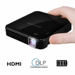 Magnasonic Mini Portable Pico Video Projector with HDMI, Rechargeable Battery, Built-In Speakers, DLP & Vibrant 50 Lumen Brightness for Mobile Movies (PP71)<!--PP71-->
