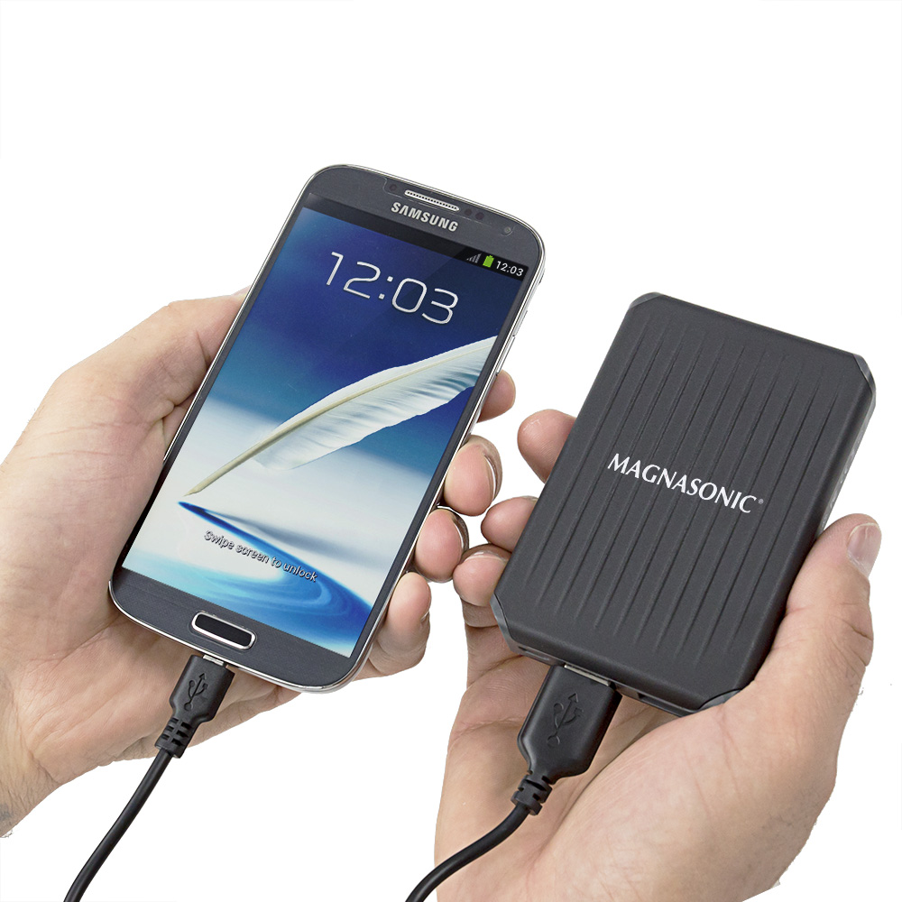Have you ever been on a hike, bike ride or other outdoor adventure and realized that your smartphone is out of power? Now you can give your devices a boost at any time with the ultra-rugged Magnasonic Power Bank. Whether you need to recharge your camera so you can capture the sunset on the beach or