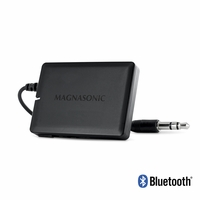 Magnasonic Portable Wireless Bluetooth Music Receiver Adapter for Speaker Systems & Car Audio & with 3.5 mm AUX Connection, Rechargeable Battery, and Audio Controls; For Streaming iPhone, iPad, Samsung, Android, HTC, Blackberry, Smartphones, Tablets, Laptops (BA21)<!--BA21-->
