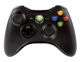 Microsoft XBOX 360 Controller, Wireless (Black)<!--XBOX360CTRLR-->