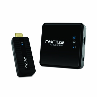 Nyrius ARIES Prime Digital Wireless HDMI Transmitter & Receiver System for HD 1080p 3D Video Streaming, Laptops, PC, Cablebox, Satellite, Blu-ray, DVD, PS3, PS4, Xbox, Xbox One (NPCS549)<!--NPCS549-->