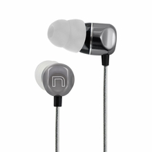 Nyrius NAEB500 High Performance Noise Isolating In-Ear Directly Angled Earphones with Undistorted Deep Bass and Anti-tangle Cord