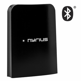 Nyrius Songo Link Wireless Bluetooth Music Receiver 30-pin Apple Speaker Dock Adapter for Audio Streaming iPod, iPhone, iPad, Samsung, Android, HTC, Blackberry, Smartphones, Tablets, Laptops (BR30)<!--BR30-->