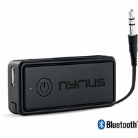 Nyrius Songo Portable Wireless Bluetooth Music Receiver Adapter for Car Audio, Headphones & Speaker Systems with 3.5 mm Connection, Rechargeable Battery, and Audio Controls; <br><br>$4.99! Click Red Banner Below for Details<!--BR41-->