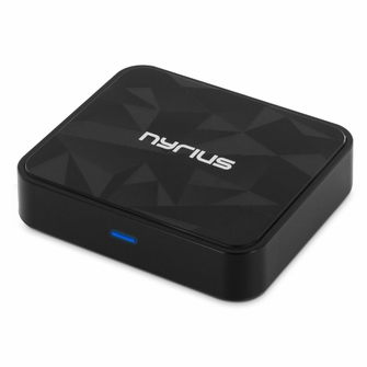 Nyrius Songo Tap Wireless Bluetooth aptX NFC Music Receiver for Streaming iPhone, iPad, iPod, Samsung, Android, Blackberry, Smartphones, Tablets, Laptops to Stereo Systems with Digital Optical or 3.5mm Audio Connections (BR51)<!--BR51-->