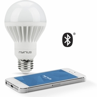 Nyrius Wireless Smart White LED Light Bulb for Smartphones & Tablets - iOS & Android App Remotely Controls On/Off, Scheduling & Dimming Functions - Bluetooth Energy Efficient Home Automation (SB09)<!--SB09-->