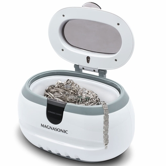 Magnasonic Professional Ultrasonic Polishing Jewelry Cleaner Machine for Cleaning Eyeglasses, Watches, Rings, Necklaces, Coins, Razors, Dentures, Combs, Tools, Parts, Instruments (CD2800)<!--CD2800-->