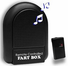 Remote Controlled Fart Box with 8 Realistic Fart Sounds and 100' Range