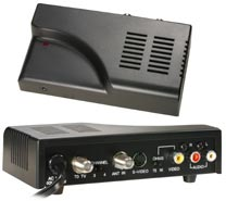 RF Signal Modulator TV Video & Audio Converter Adapter with S-Video Connection