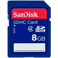 SanDisk 8GB SD Secure Digital High Capacity (SDHC) Flash Memory Card SDSDB-8192-A11<!--SDSDB8192-->