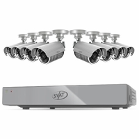 SVAT 16CH H.264 500GB Smart Security DVR with 8 Hi-res Outdoor Surveillance Cameras and Smart Phone Compatibility (11044)<!--11044-->
