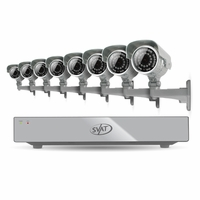 SVAT 16CH H.264 500GB Smart Security DVR with 8 Ultra Hi-res Outdoor Surveillance Cameras and Smart Phone Compatibility (11046)<!--11046-->
