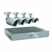 SVAT 4CH H.264 500GB Smart Security DVR with 4 x 480TVL 75ft Night Vision Indoor/Outdoor Cameras (11020)<!--11020-->