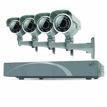 SVAT 4CH Smart Security DVR with 4 Super Resolution Outdoor 100ft Night Vision Security Cameras with IR Cut Filter 500 GB HDD iPhone, Android, Blackberry, iPad, PC & Mac compatible (11027)