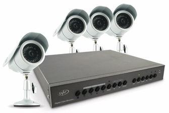 SVAT CV0204DVR Web Ready DVR Security System � Digital Video Recorder with 4 High Resolution Indoor/Outdoor Night Vision Surveillance Cameras<!--CV0204DVR-->