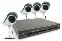 SVAT CV0204DVR Web Ready DVR Security System � Digital Video Recorder with 4 High Resolution Indoor/Outdoor Night Vision Surveillance Cameras