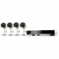 SVAT CV300-4CH-001 User Friendly Web Ready 4 Channel DVR Security System with 4 Indoor/Outdoor Weatherproof Night Vision Surveillance Cameras<!--CV300-4CH-001-->