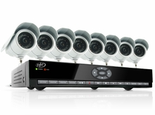 SVAT CV301-8CH-008 Web Ready 8 Channel H.264 500GB HDD DVR Security System with 8 Indoor/Outdoor Hi-Res Night Vision CCD Surveillance Cameras and Smart Phone Access