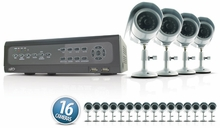 SVAT CV501-16CH-006 Do-it-Yourself DVR Security System with 16 Indoor/Outdoor Night Vision CCD Surveillance Cameras and Smartphone Compatibility