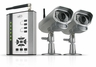 SVAT GX301-013 Digital Wireless DVR Security System Receiver with SD Card Recording and 2 Long Range Night Vision Surveillance Cameras