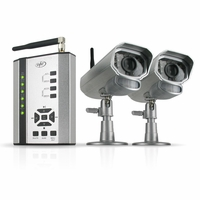 SVAT GX301-013 Digital Wireless DVR Security System Receiver with SD Card Recording and 2 Long Range Night Vision Surveillance Cameras<!--GX301-013-->