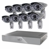 SVAT PRO 16CH H.264 1 TB Smart Security DVR with 8  Ultra Hi-res Outdoor Surveillance Cameras and Smart Phone Compatibility (11114)