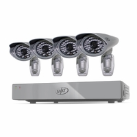 SVAT PRO 8CH H.264 1 TB Smart Security DVR with 4  Ultra Hi-res Outdoor Surveillance Cameras and Smart Phone Compatibility (11110)<!--11110-->
