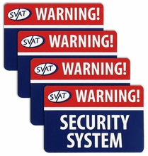SVAT� 4 Pack of Window Warning Stickers with UV fade Protection (VU100-ST)