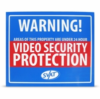"SVAT VU102-SGN 12"" x 10"" Indoor Video Security Surveillance System Deterrent Warning Sign with 4 Window Warning Stickers<!--VU102-SGN-->"