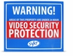 "SVAT VU102-SGN 12"" x 10"" Indoor Video Security Surveillance System Deterrent Warning Sign with 4 Window Warning Stickers"