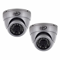Ultra High Resolution Indoor/Outdoor Dome Security Cameras with 65ft Night Vision & 600 TVL (2 Pack)-11178<!--11178-->