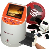 Wolverine F2D Mighty 20MP 7-in-1 Film to Digital Converter for 35mm, 127, 126KPK, 110 and 35mm film, no computer or software required, 2.4 inch colour screen, internal memory (F2DMIGHTY)<!--F2DMIGHTY-->
