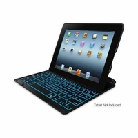 ZAGG PROfolio+ Ultrathin Case with Backlit Bluetooth Keyboard for iPad 2/3/4 - Black (FOLPROBLKLIT101)