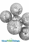 "2"" Mirror Disco Ball Ornaments - Set of 6"